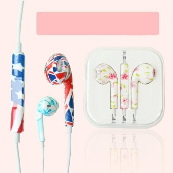 Rorychen Printed with Wheat Thread Original Wired In-Ear Earphonesfor Apple IPhone 5 5C 5S 6 6S 6 Plus 6S and Andrews Mobile Phone -intl - 3