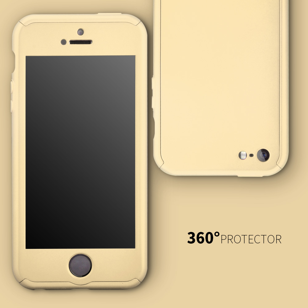 Roybens 360 Degree Full Body Protect Hard Slim Case Cover with Tempered Glass .