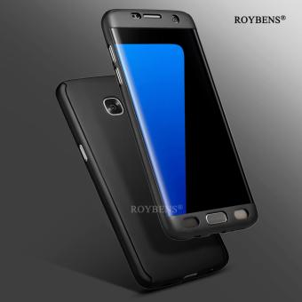 Roybens 360? Full Body Front + Back Hard Slim Case Cover with Screen Protector for Samsung Galaxy S7 Edge Black - intl