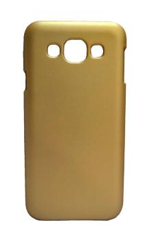 Rubberized Hard Case for Samsung Galaxy E5 (Gold)