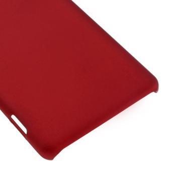 Rubberized Hard Cover Case for Sony Xperia XA / XA Dual - Red -intl - 5