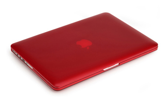 Rubberized Protective Tablet Case For Apple Mac-book 13.3 Inch air(Red)
