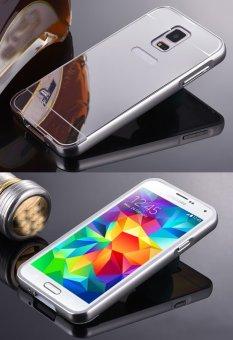 RUILEAN Luxury Metal Aluminum Bumper for Samsung Galaxy S5 (Silver) - 2