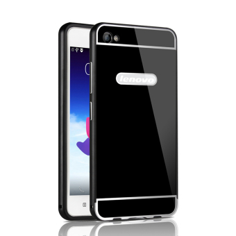 RUILEAN Luxury Metal Aluminum Bumper Frame and Acrylic PC Hard Back Panel Case for Lenovo Sisley S90 S90U S90T (Black)