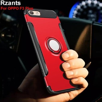 Rzants For OPPO F3 Plus 360 Degrees Rotation with Ring Car Holder Case Cover - intl - 2