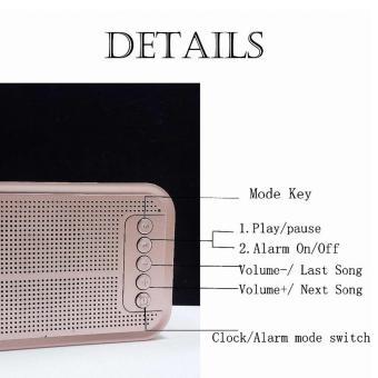 S-61 Wireless Bluetooth Speaker Music Sound Box with Alarm Clock Function LCD Screen Desktop Support Hands-free Call TF Card - 5