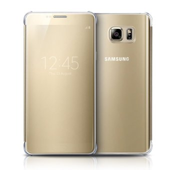 S-View Flip Cover Clear View Cover Case for Samsung Galaxy Note 5(Gold) - intl