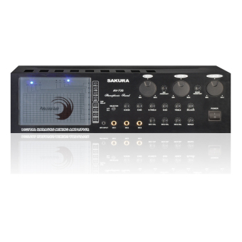 Sakura AV-735 Stereo Mixing Amplifier (BLACK)