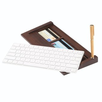 SAMDI Bamboo Wireless Magic Keyboard Stand Dock Holder + SoftWooden Mouse Mat + Wooden Keyboard Wrist Rest Pad for Apple IMac -intl - 4