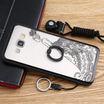 Samsung A8/a8000 Silicone with fastened ring support protective case phone case