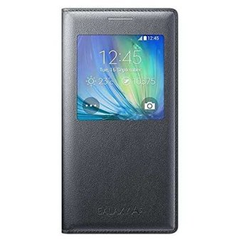 Samsung EF-CA500B S View Cover for Galaxy A5 SM-A500 (Charcoal Black) - 2
