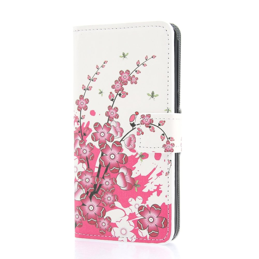 Callfree Elegant Roses Leather Wallet Cover For Samsung Galaxy Grand Prime Sm G530h Dual Sim 8gb Putih Pu Flip Case Coverprotector Card Holders