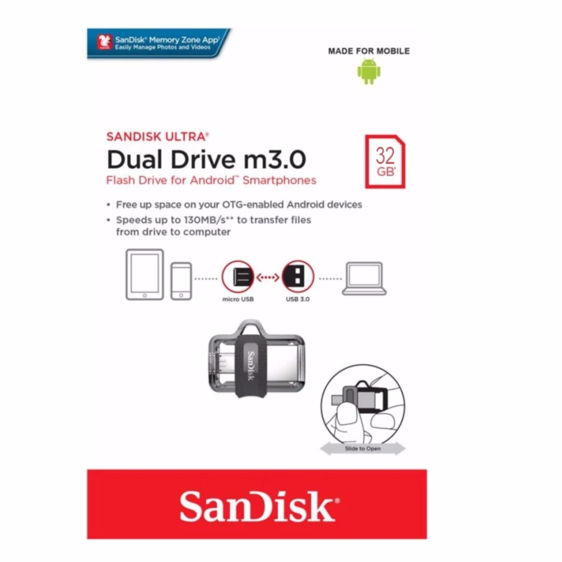 Philippines Sandisk 32gb Otg Ultra Dual Usb Drive M30 Flash Flashdisk Type C 32 Gb For Android Smartphones