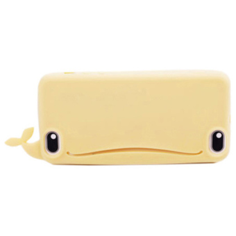 Sanwood Big Mouth Whale Rubber Case Cover For iPhone 4s/4 Yellow