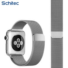 SCHITEC Watch Band for Apple iWatch Band Sport & Edition FullyMagnetic Closure Clasp Mesh Loop Milanese