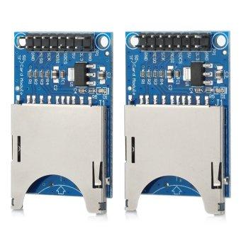 SD Card Slot Reading Writing Modules (Blue/Silver) (2 PCS)