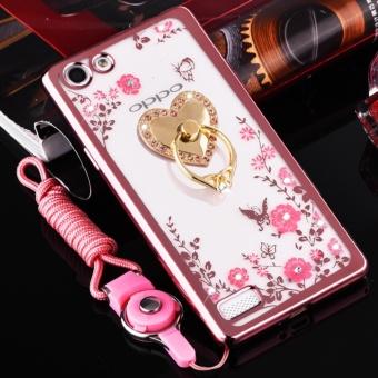 Secret Garden Plating TPU phone case For OPPO F3 (Rose Gold+love) -