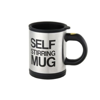 Self Stirring Coffee Mug (Black/Silver)