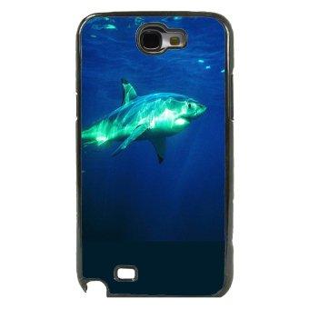 Shark Marine Pattern Phone Case For Samsung Galaxy Note 2 (Black)