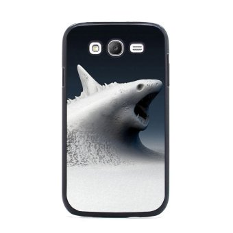 Shark Marine Pattern Phone Case for Samsung Galaxy S3 (Black/White) - picture 2