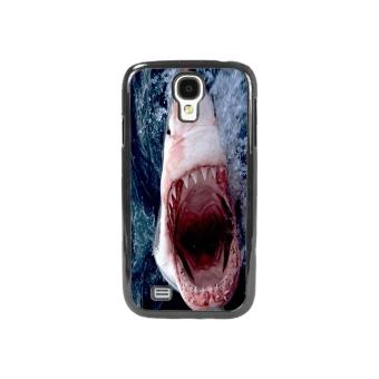 Shark Marine Pattern Phone Case for Samsung Galaxy S4(Black)