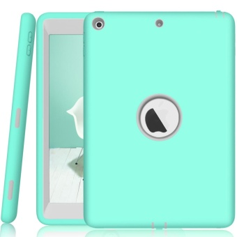 Shockproof Dustproof Heavy Duty Armor Hard Case Cover for Apple iPad 9.7 2017 (Mint Green) - intl