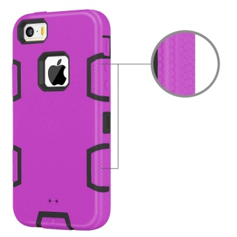Shockproof Heavy Duty Combo Hybrid Defender High Impact Body RuggedHard PC & Silicone Case Protective Cover for Apple iPhone 5 5SSE - intl - 4