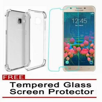 Shockproof TPU Case for Samsung Galaxy J5 Prime with Tempered Glass(Clear)