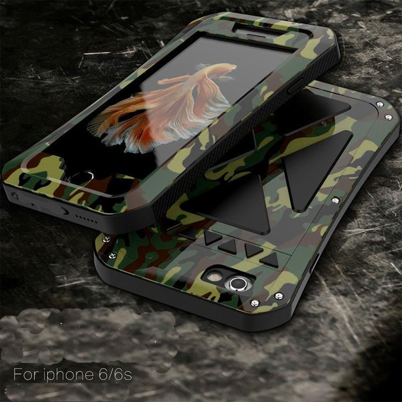 SHUNJIA WaterDirtShock Proof Metal Armor Case For iPhone 6; 100% high quality 7b846 33c58 SHUNJIA Night Luminous Glow Wolf Pattern Hard ...