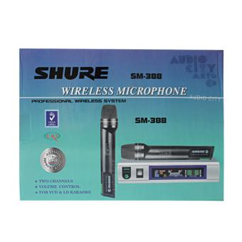 Shure SM-388 2 Channel Professional Wireless Microphone System(Silver/Black)