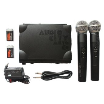 Shure SM58II UHF Dual Channel Handheld Microphone Wireless Receiver System (Black)