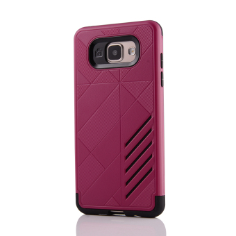 Silicon + PC Combo Case for Samsung Galaxy A3 (2016) A310 (HotPink) - Intl - 2