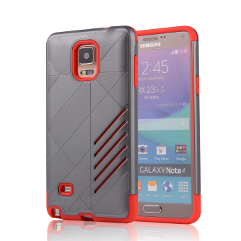 Silicon + PC Combo Case for Samsung Galaxy Note 4 N9100 (Grey+Red)- Intl