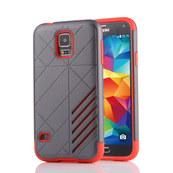 Silicon + PC Combo Case for Samsung Galaxy S5 i9600 (Grey+Red) -Intl