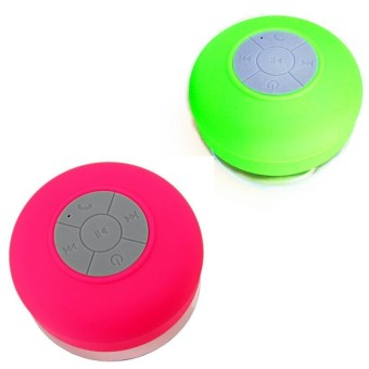 Silicone Bluetooth Speaker Set of 2 (Pink/Green)
