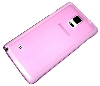 Silicone Clear Case for Samsung Galaxy Note 4 (Pink)