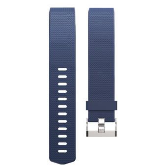 Silicone Replacement Watch Band Strap Bracelet for Fitbit Charge 2 Blue