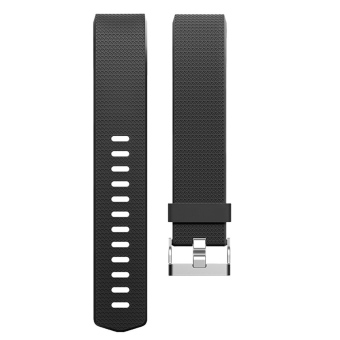 Silicone Replacement Watch Band Strap Bracelet for Fitbit Charge 2Black