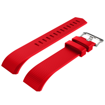 Silicone Replacement Watch Band Strap Bracelet for Fitbit Charge 2Red