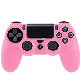 Silicone Skin Case Cover for Controller Sony PlayStation 4 (Pink)(Intl)