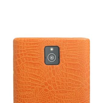 Simple Crocodile Stripe Protection Back Cover For Blackberry Passport Q30(Orange) - 4