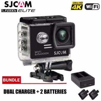 SJCAM SJ5000X Elite 4K 12MP Waterproof 30M Action Camera (Black)with SJCAM Dual-Channel Charger and Two Spare SJCAM Batteries Price Philippines