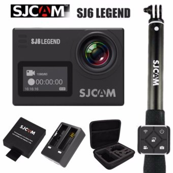 SJCAM SJ6 Legend 16MP Action Camera (Black) SJCAM Monopod Stickwith Waterproof Smart RF Remote Shutter (Black) SJCAM Battery withDual Charger and Large Case Price Philippines