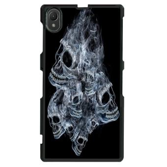 Skull Pattern Phone Case for Sony Xperia Z1 L39h (Black)