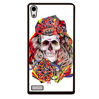 Skull Tattoo Pattern Phone Case for Huawei Ascend P6 (Multicolor)