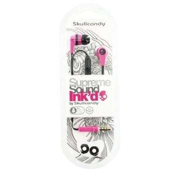 ... SkullCandy S2IKDY-133 Ink'd 2.0 In-Ear Headphones (Pink/Black