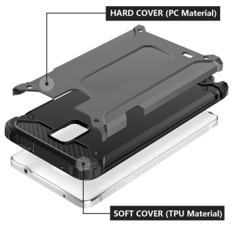 Slim Fit Rugged Hybrid Dual Layer Hard Shell Armor Protective Back Case Shockproof .