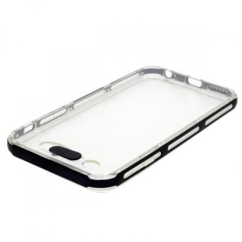 Slim Transparent Lightning Flash for incoming call Crystal Clear Hard Case for iPhone 4.7(Black)