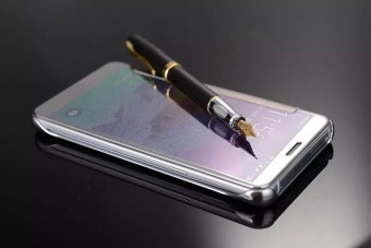 Smart sleep mirror leather case Cover for Samsung Galaxy Note 5(silver) - intl - 3