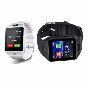 Smart Watch Bluetooth For Android and IOS With Sim Card Slot CoupleWatch(White/Black) DZ09